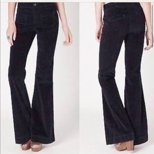 Pilcro and Letterpress  brown corduroy flare pants